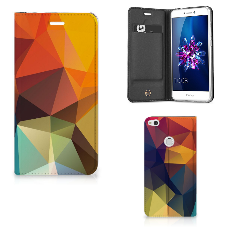 Huawei P8 Lite 2017 Stand Case Polygon Color