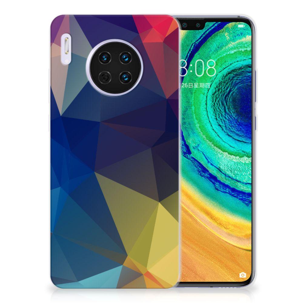 Huawei Mate 30 TPU Hoesje Polygon Dark