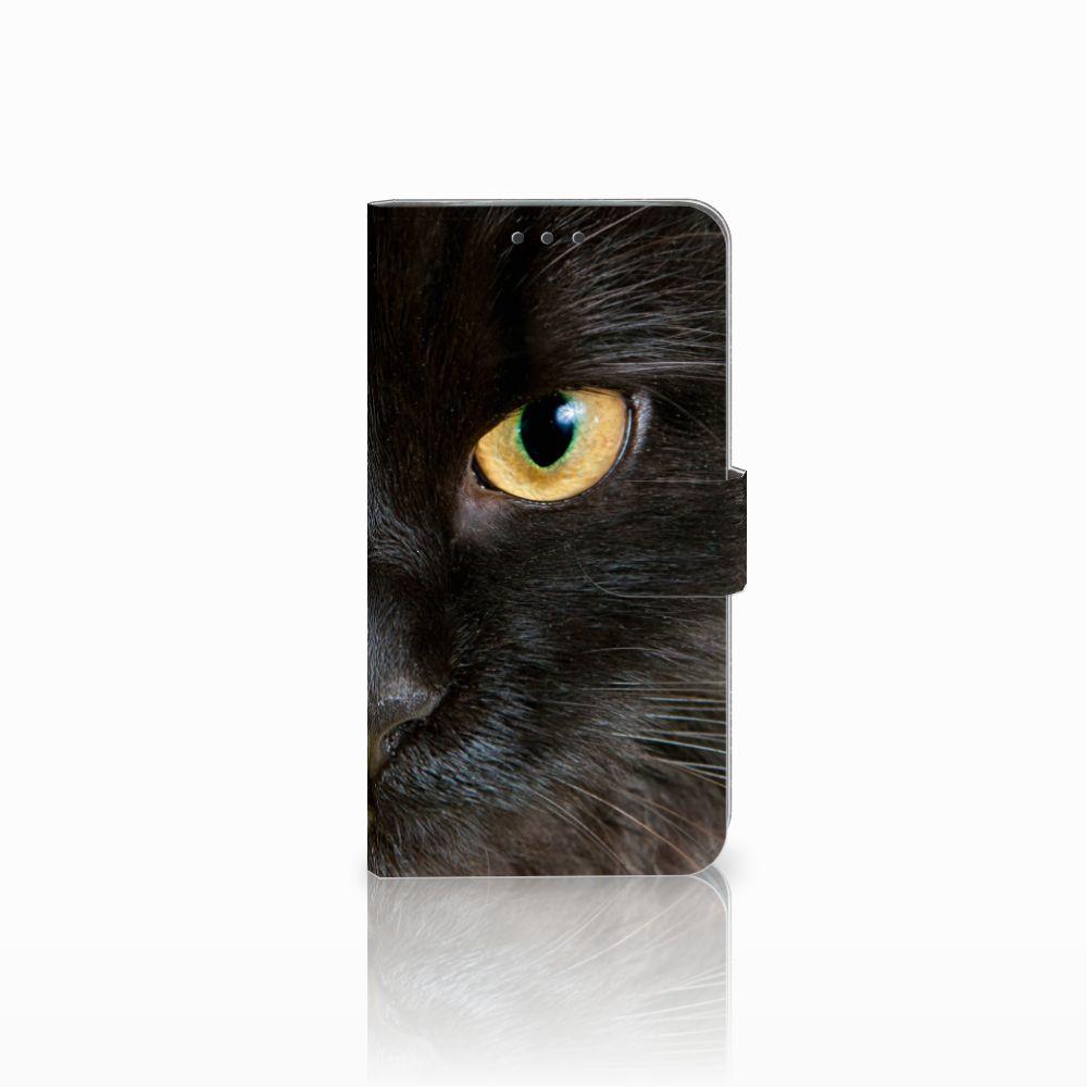 Motorola Moto E4 Plus Uniek Boekhoesje Zwarte Kat