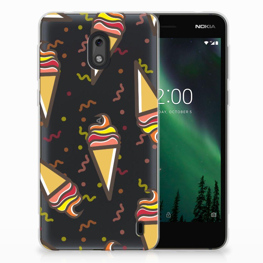 Nokia 2 Siliconen Case Icecream
