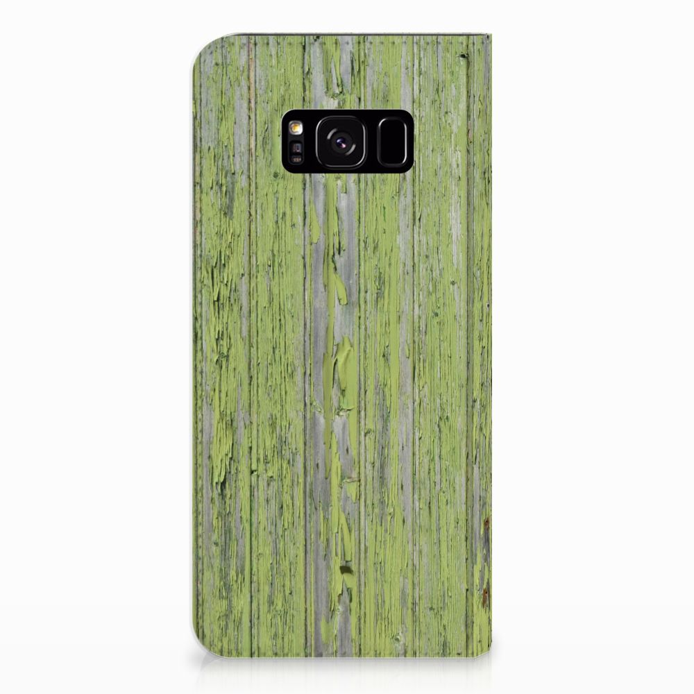 Samsung Galaxy S8 Plus Standcase Hoesje Design Green Wood
