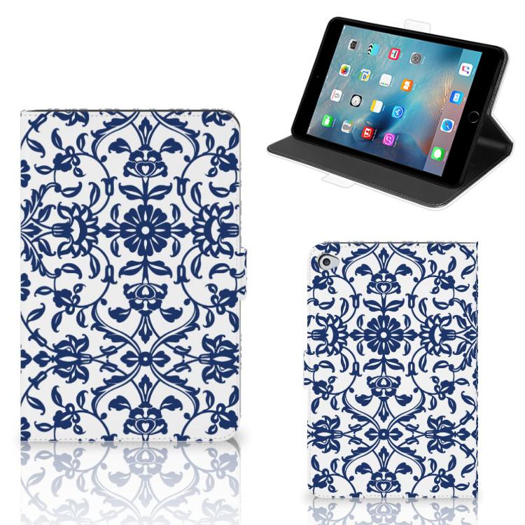 Apple iPad Mini 5 Tablet Cover Flower Blue