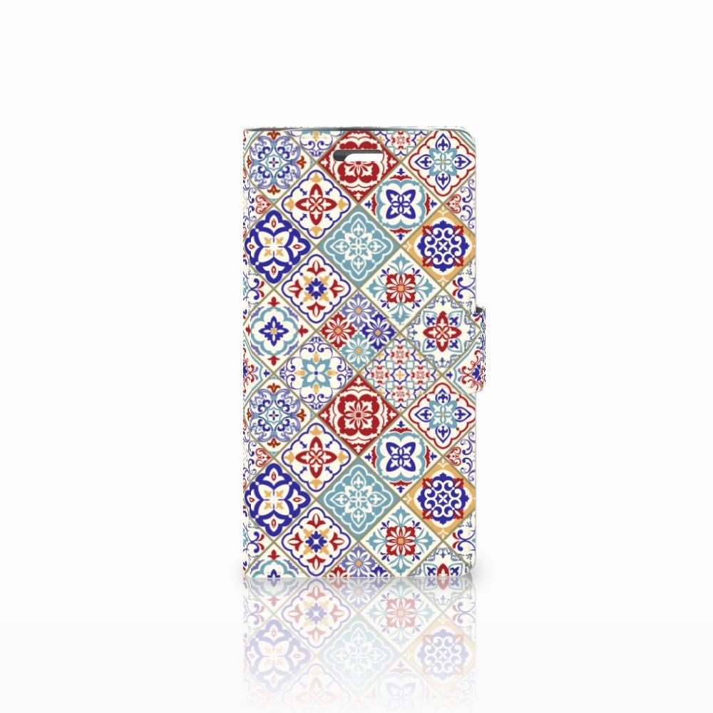 LG K10 2015 Uniek Boekhoesje Tiles Color