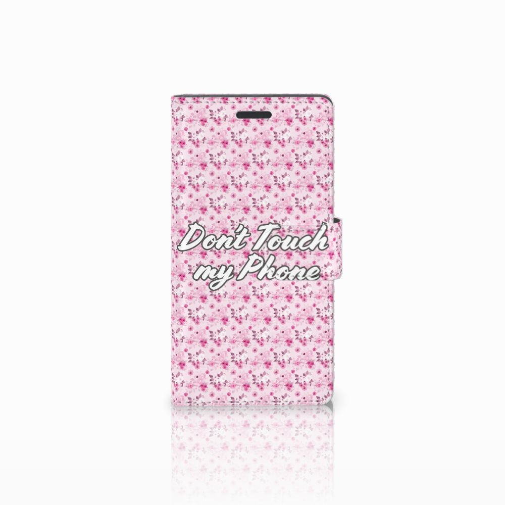 Nokia Lumia 830 Uniek Boekhoesje Flowers Pink DTMP