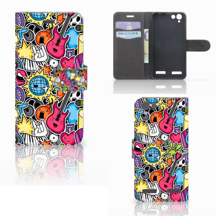 Lenovo Vibe K5 Wallet Case met Pasjes Punk Rock