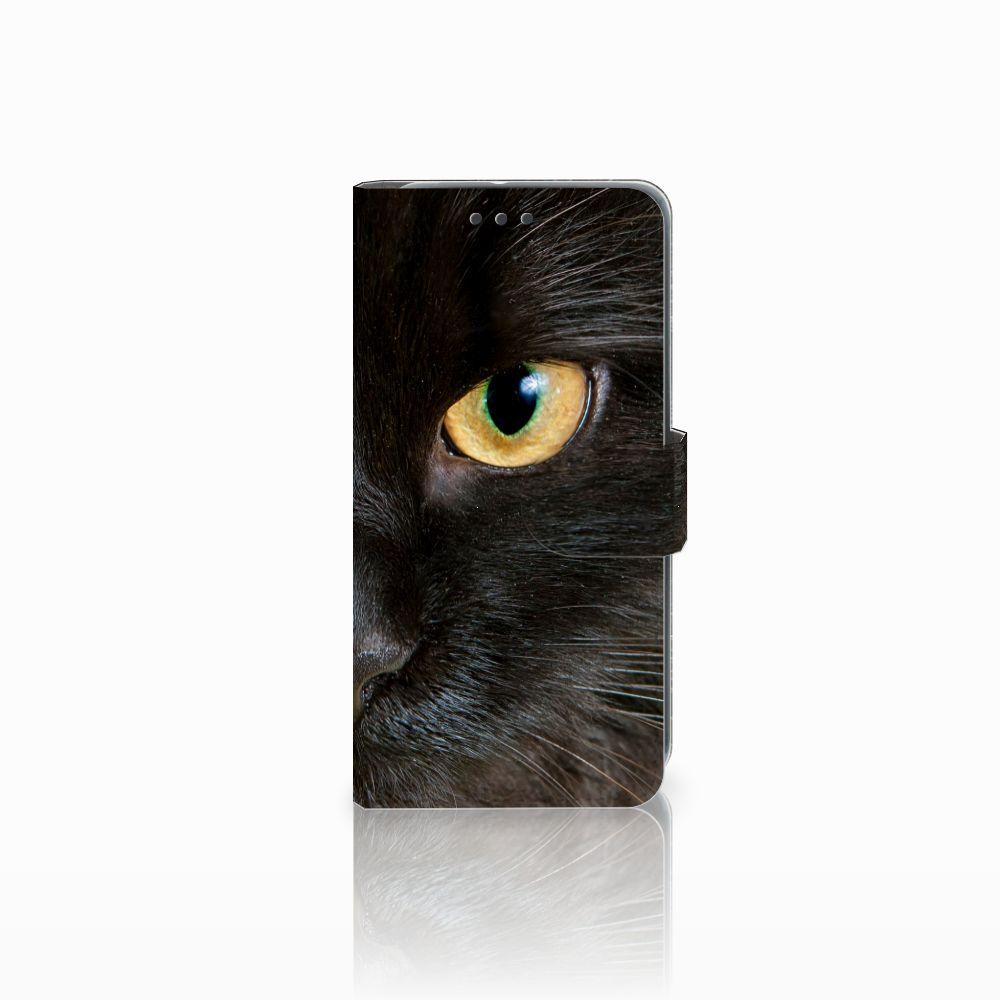 HTC U11 Life Uniek Boekhoesje Zwarte Kat