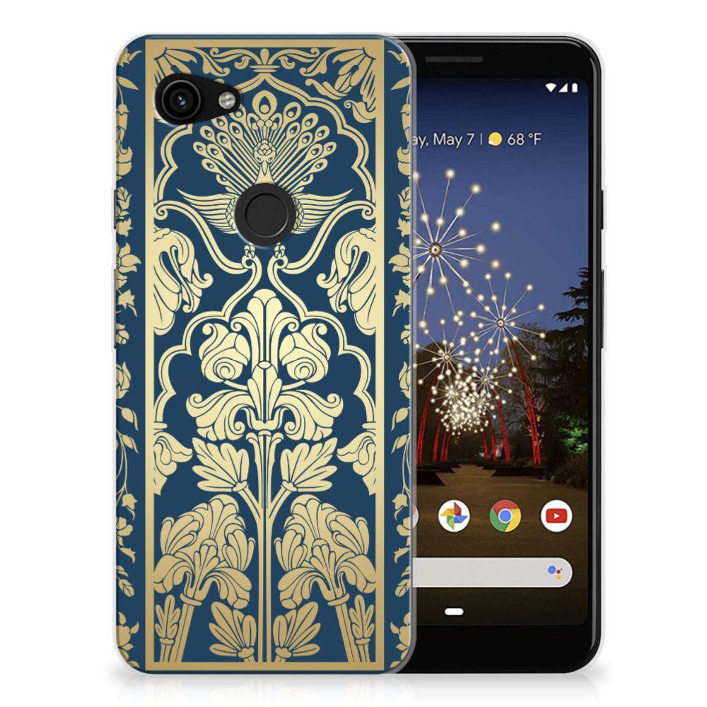 Google Pixel 3A TPU Case Golden Flowers