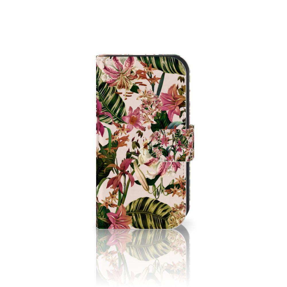 Samsung Galaxy Ace 4 4G (G357-FZ) Uniek Boekhoesje Flowers