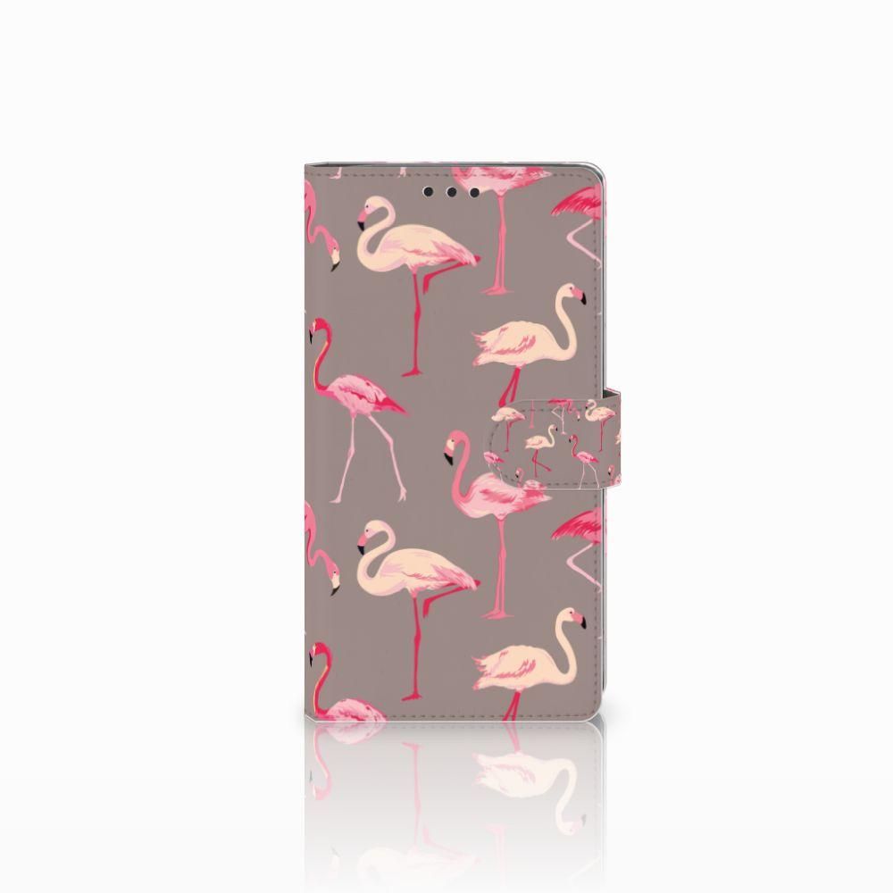 Sony Xperia XA2 Ultra Uniek Boekhoesje Flamingo