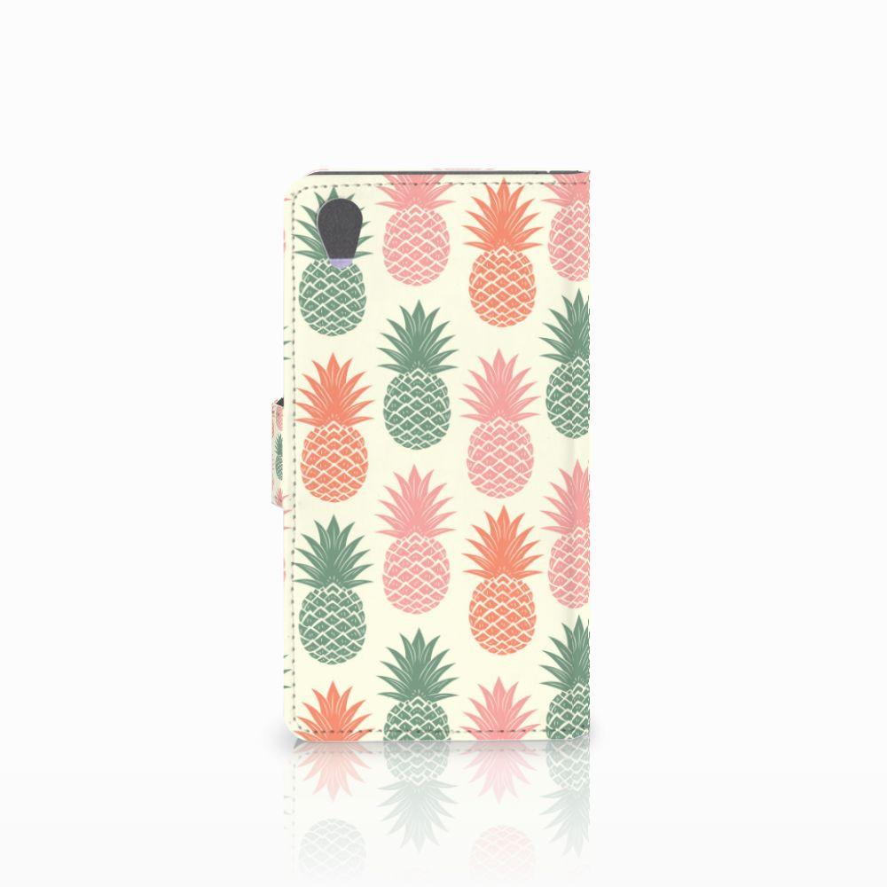 Sony Xperia Z1 Book Cover Ananas