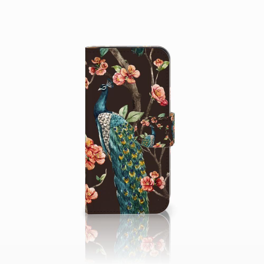 HTC One Mini 2 Boekhoesje Design Pauw met Bloemen