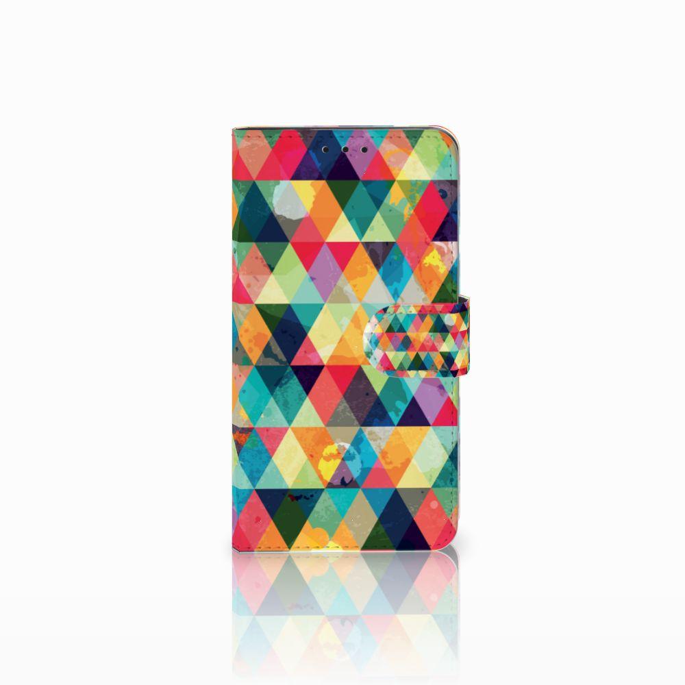 Huawei Honor 6X Uniek Boekhoesje Geruit