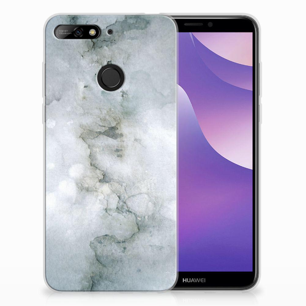 Huawei Y6 (2018) Uniek TPU Hoesje Painting Grey