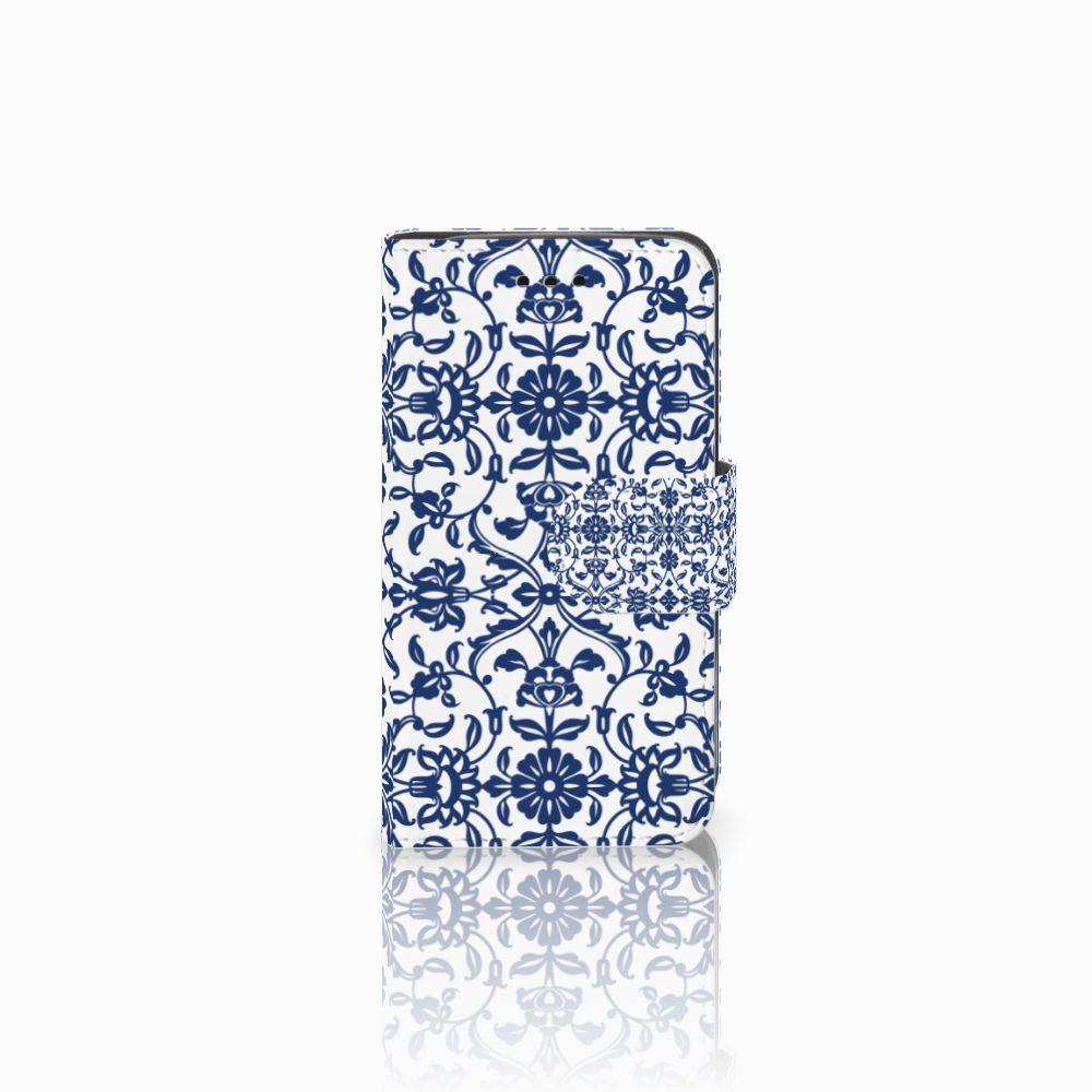 Samsung Galaxy Trend 2 Uniek Boekhoesje Flower Blue