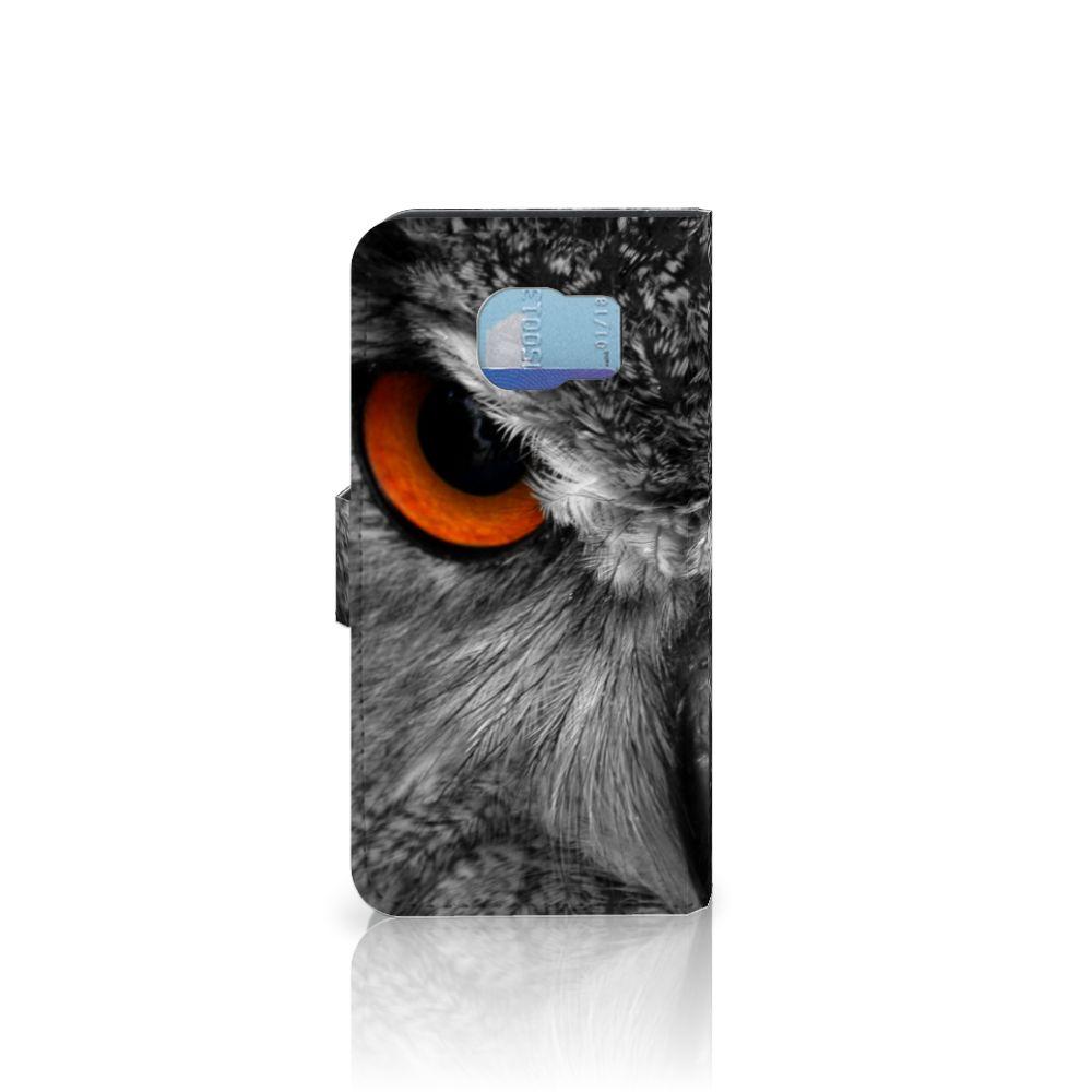 Samsung Galaxy S6   S6 Duos Telefoonhoesje met Pasjes Uil
