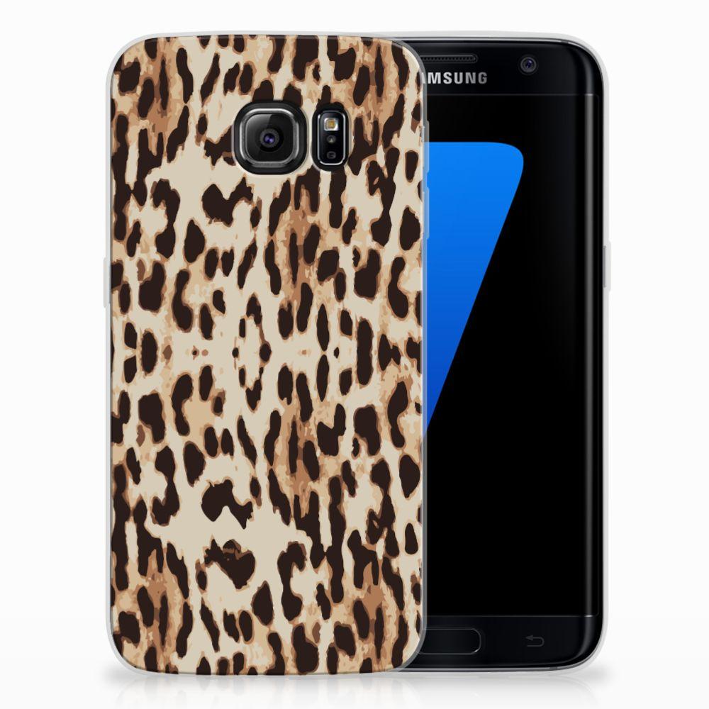 Samsung Galaxy S7 Edge Uniek TPU Hoesje Leopard
