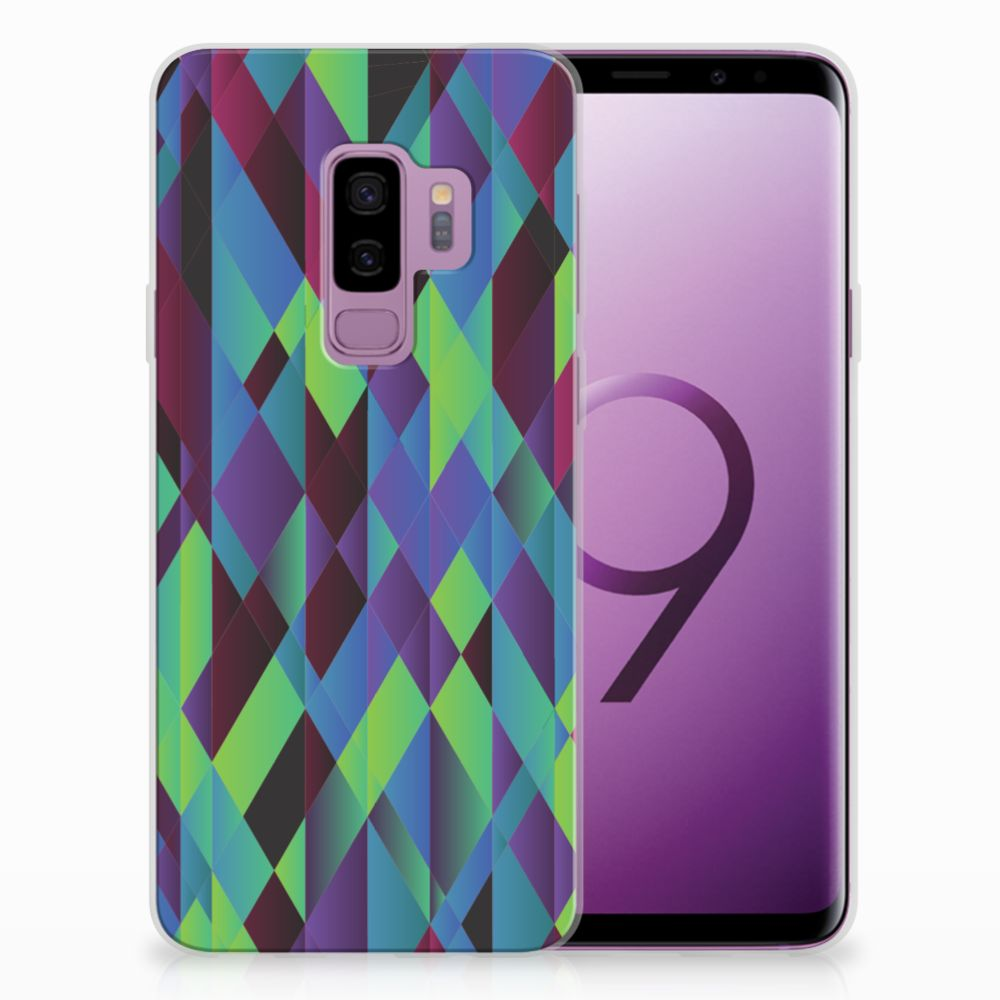 Samsung Galaxy S9 Plus TPU Hoesje Design Abstract Green Blue