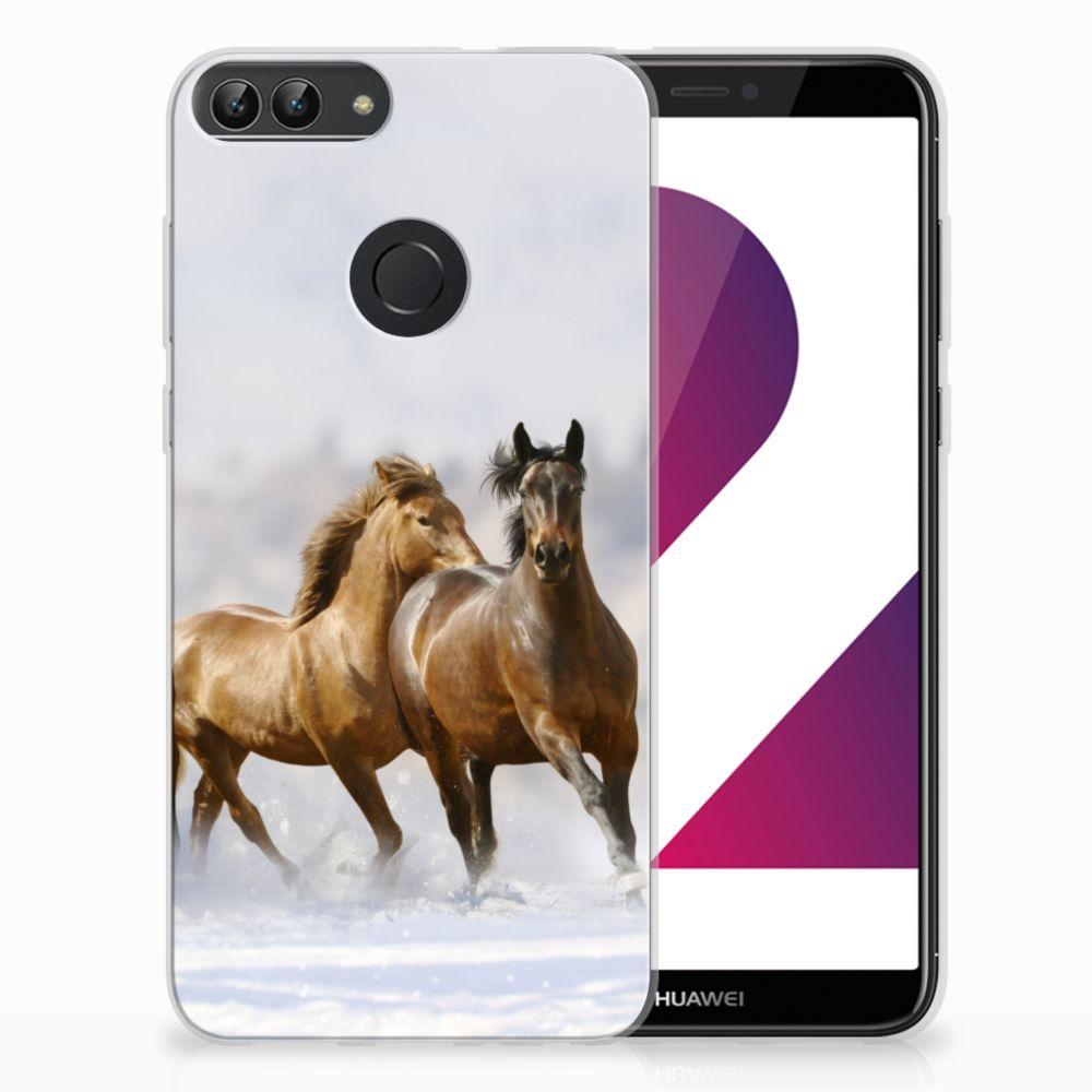 Huawei P Smart Uniek TPU Hoesje Paarden