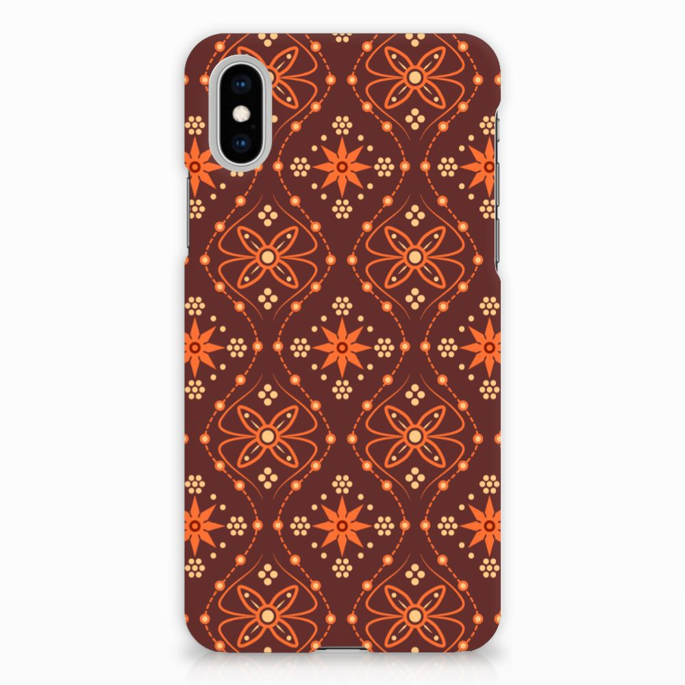 Apple iPhone X | Xs Uniek Hardcase Hoesje Batik Brown