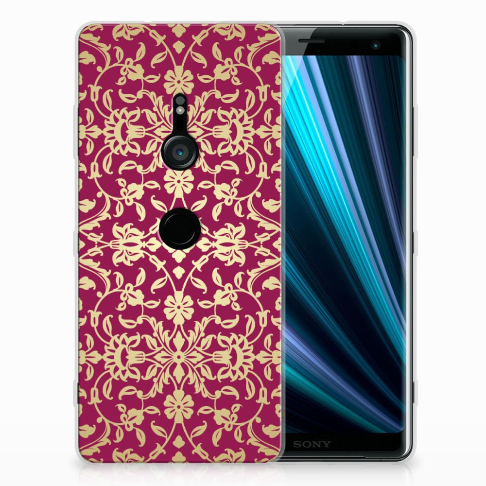 Sony Xperia XZ3 TPU Hoesje Design Barok Pink