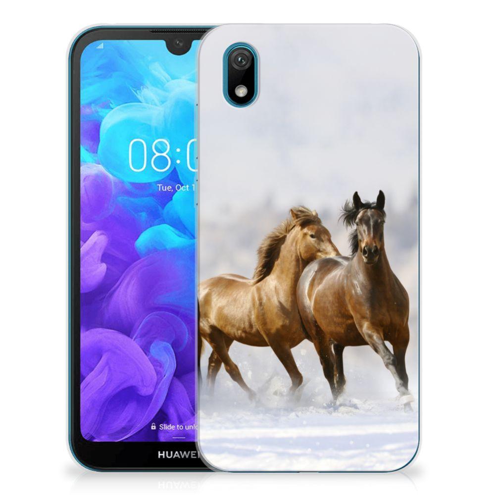Huawei Y5 (2019) TPU Hoesje Paarden