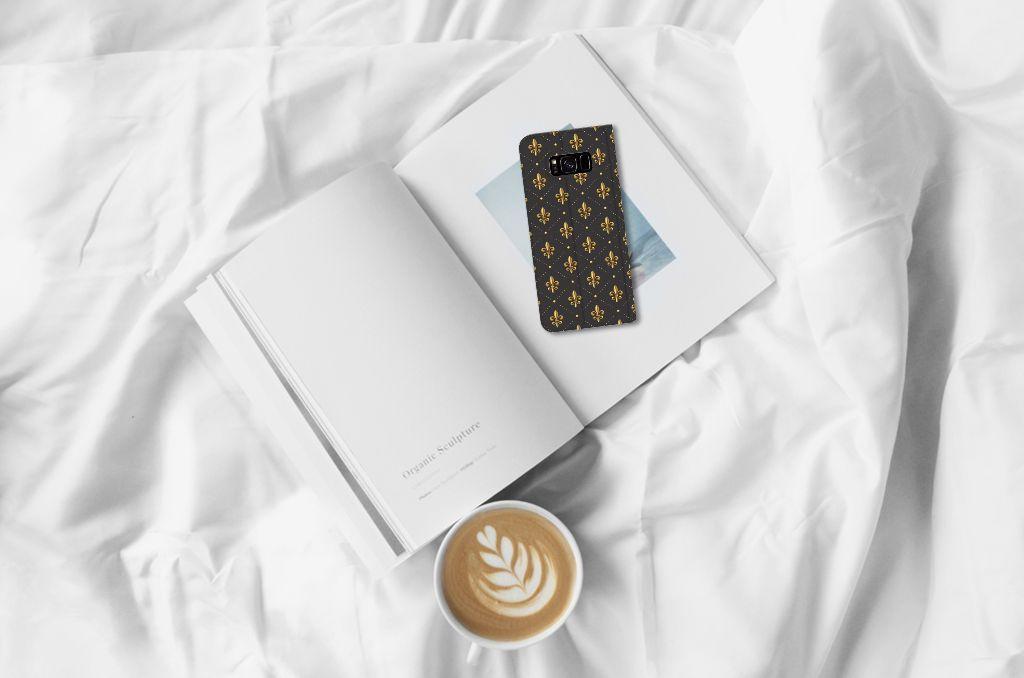 Samsung Galaxy S8 Plus Hoesje met Magneet Franse Lelie