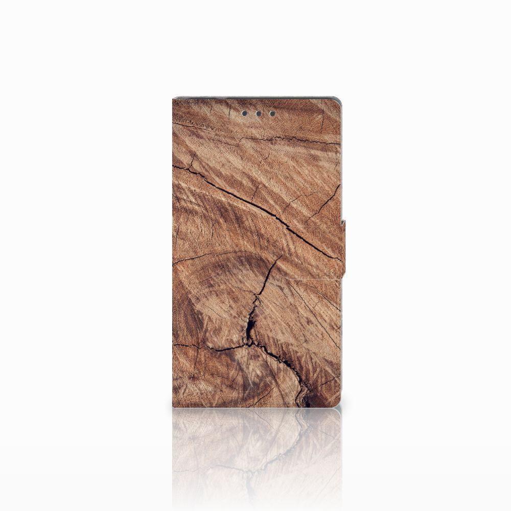 Samsung Galaxy Note 4 Boekhoesje Design Tree Trunk