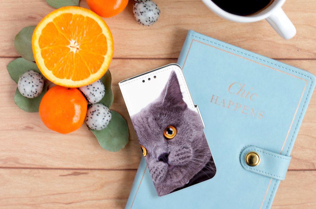 Huawei Y5 Y560 Telefoonhoesje met Pasjes Kat