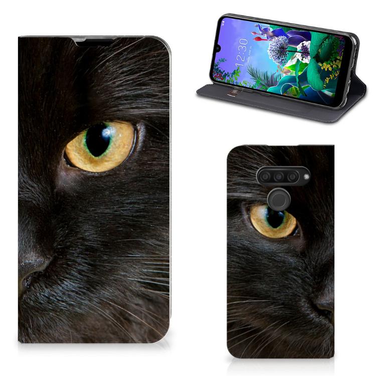 LG Q60 Hoesje maken Zwarte Kat