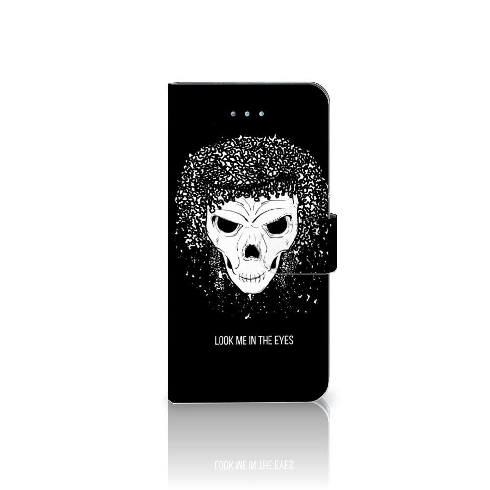 Telefoonhoesje met Naam Honor 4A | Y6 Skull Hair