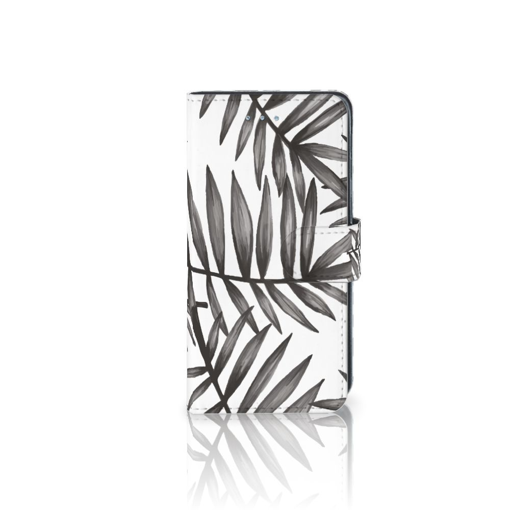 Samsung Galaxy J3 2016 Uniek Boekhoesje Leaves Grey
