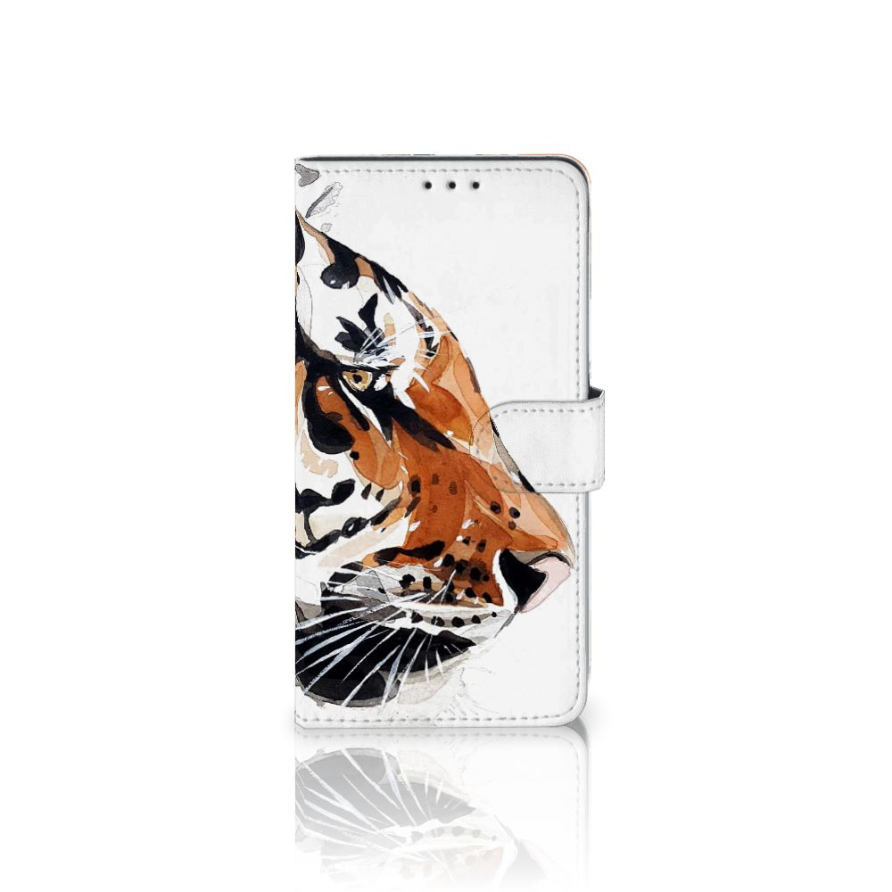 Samsung Galaxy A8 Plus (2018) Uniek Boekhoesje Watercolor Tiger