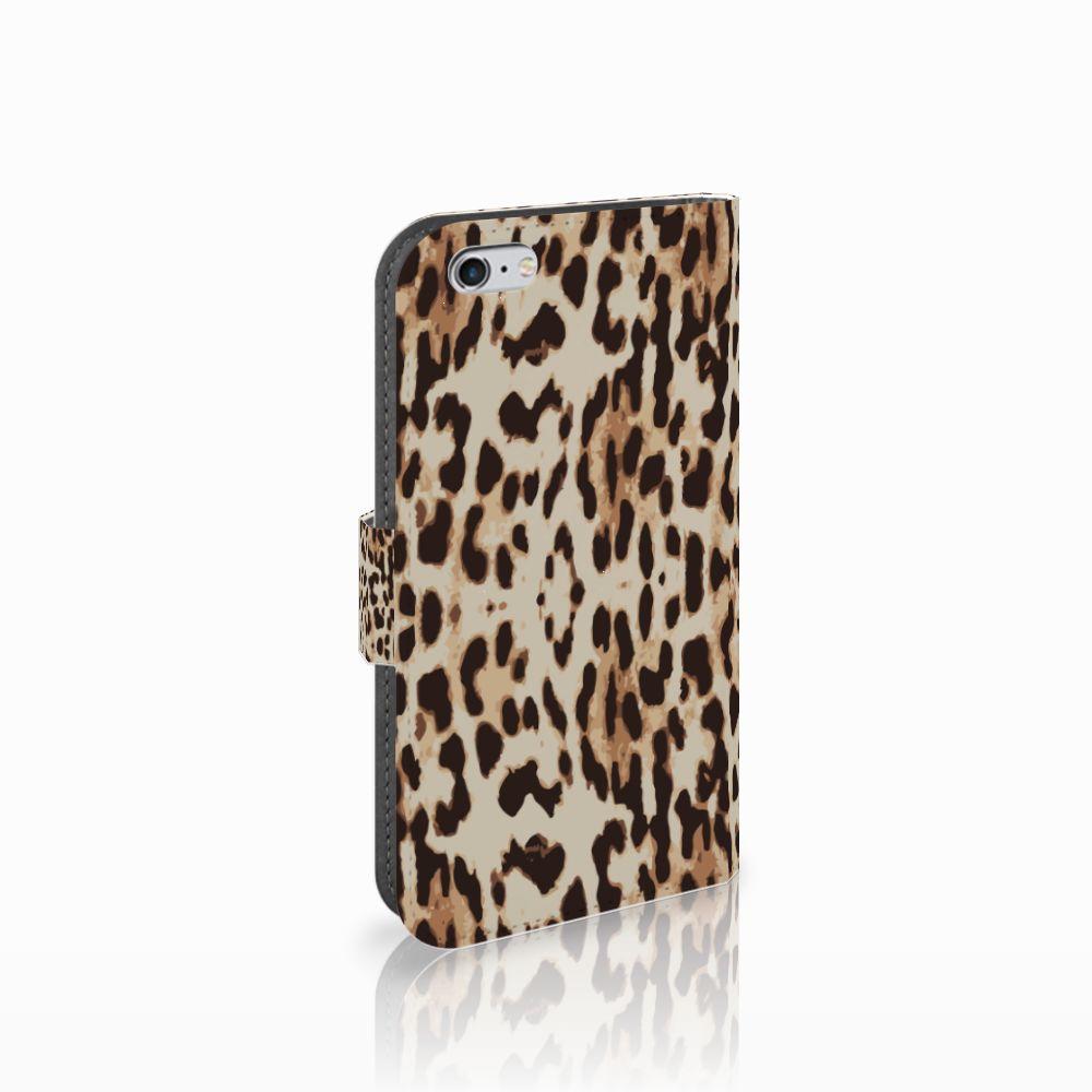 Apple iPhone 6   6s Uniek Boekhoesje Leopard