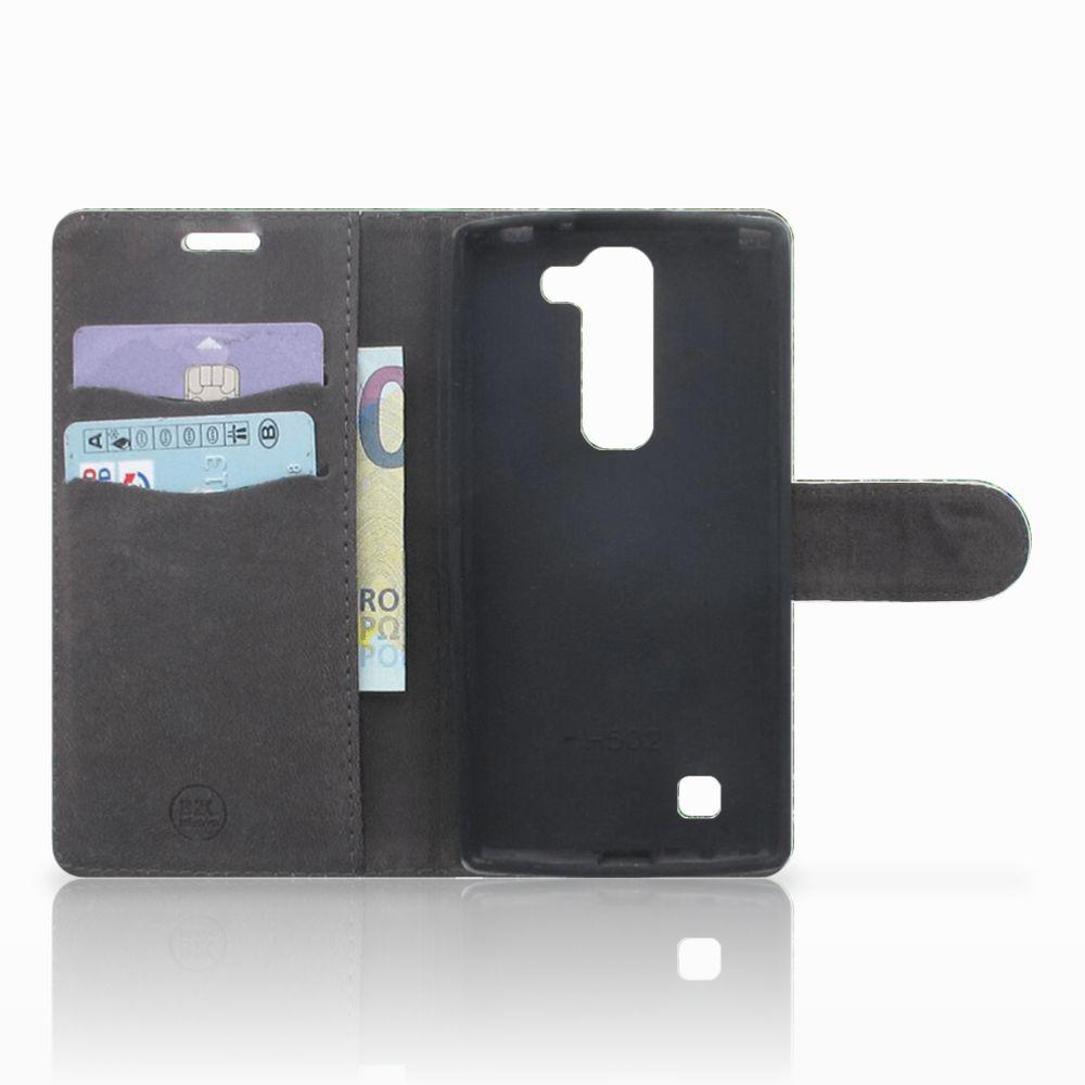 LG Magna | G4C Telefoonhoesje met Pasjes Pauw