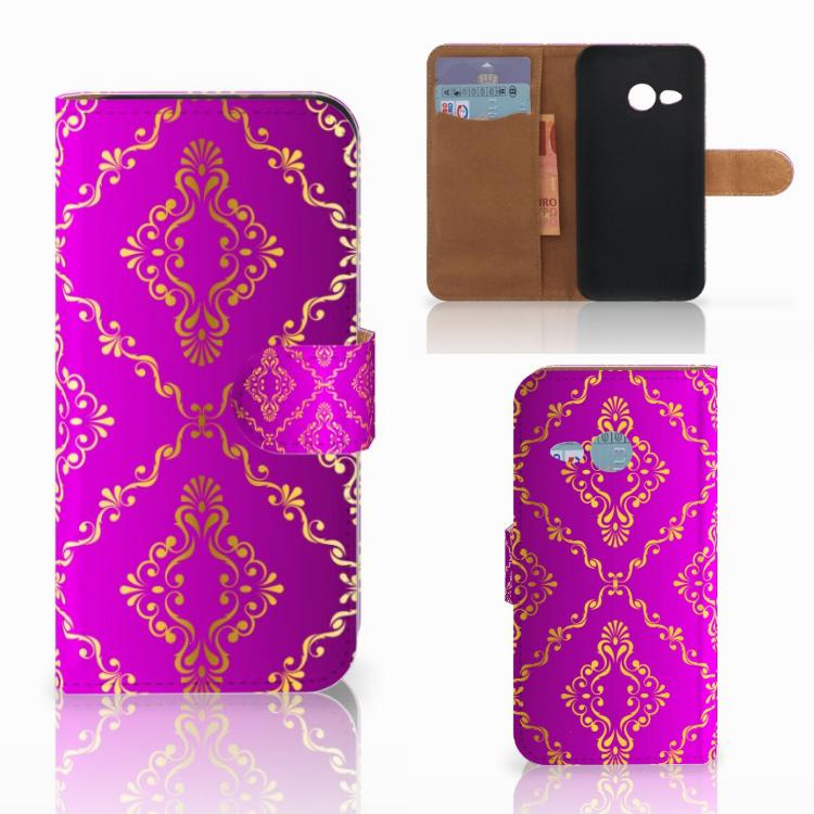 Wallet Case HTC One Mini 2 Barok Roze