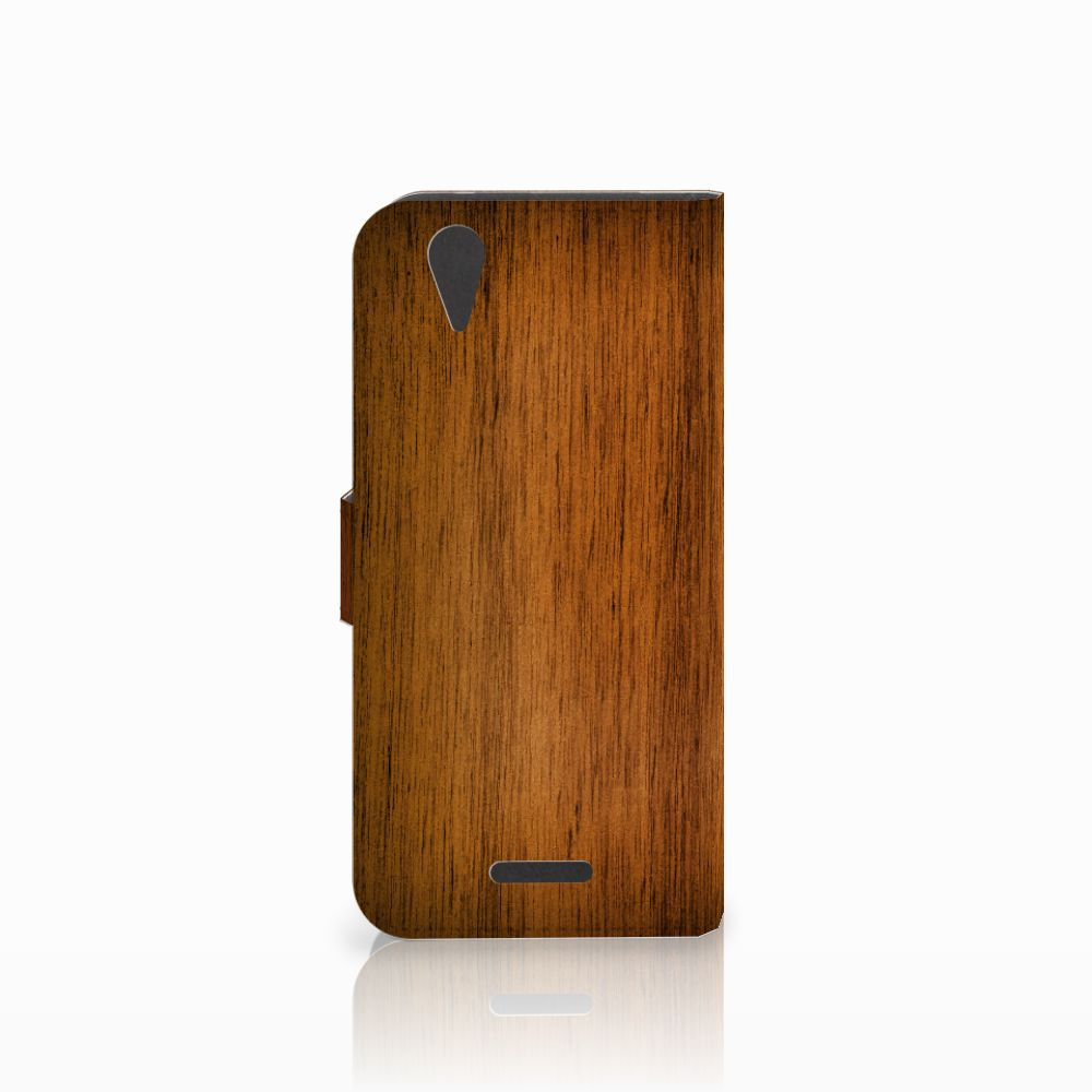 Acer Liquid Z630   Z630s Book Style Case Donker Hout