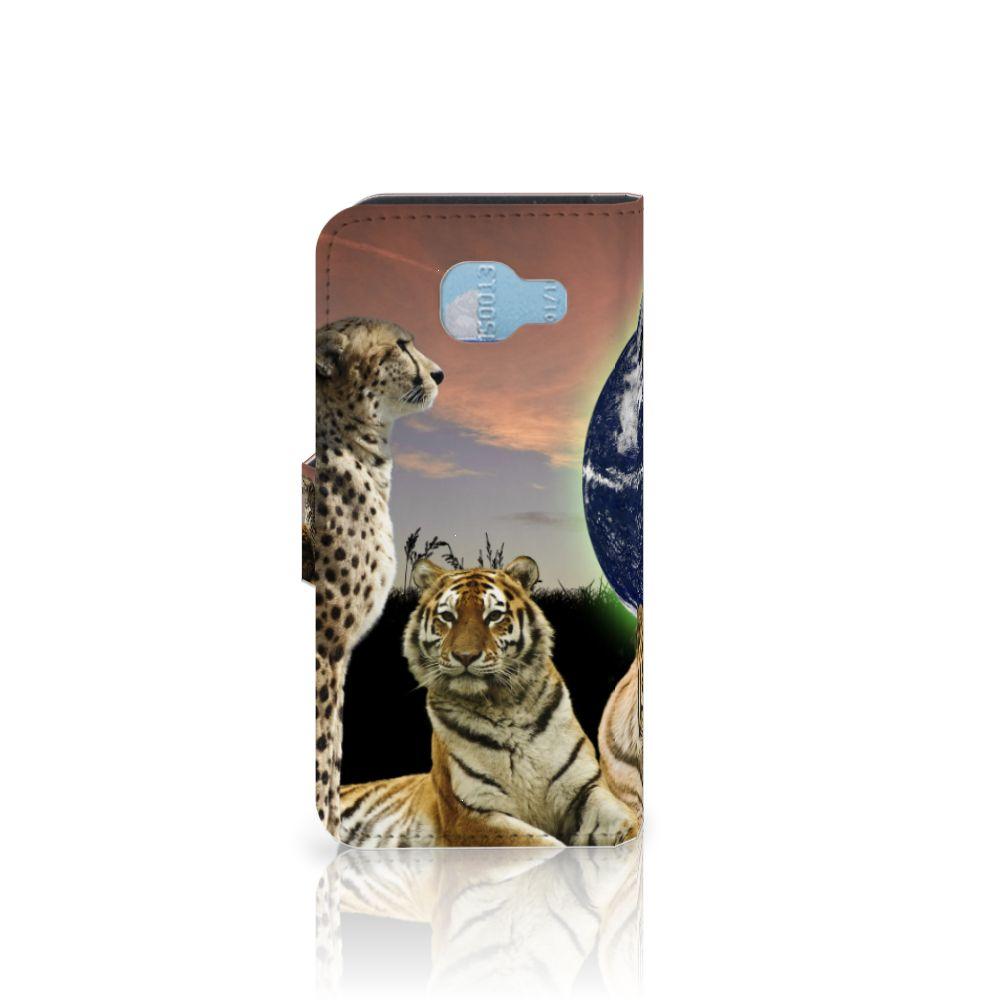 Samsung Galaxy A5 2016 Telefoonhoesje met Pasjes Roofdieren