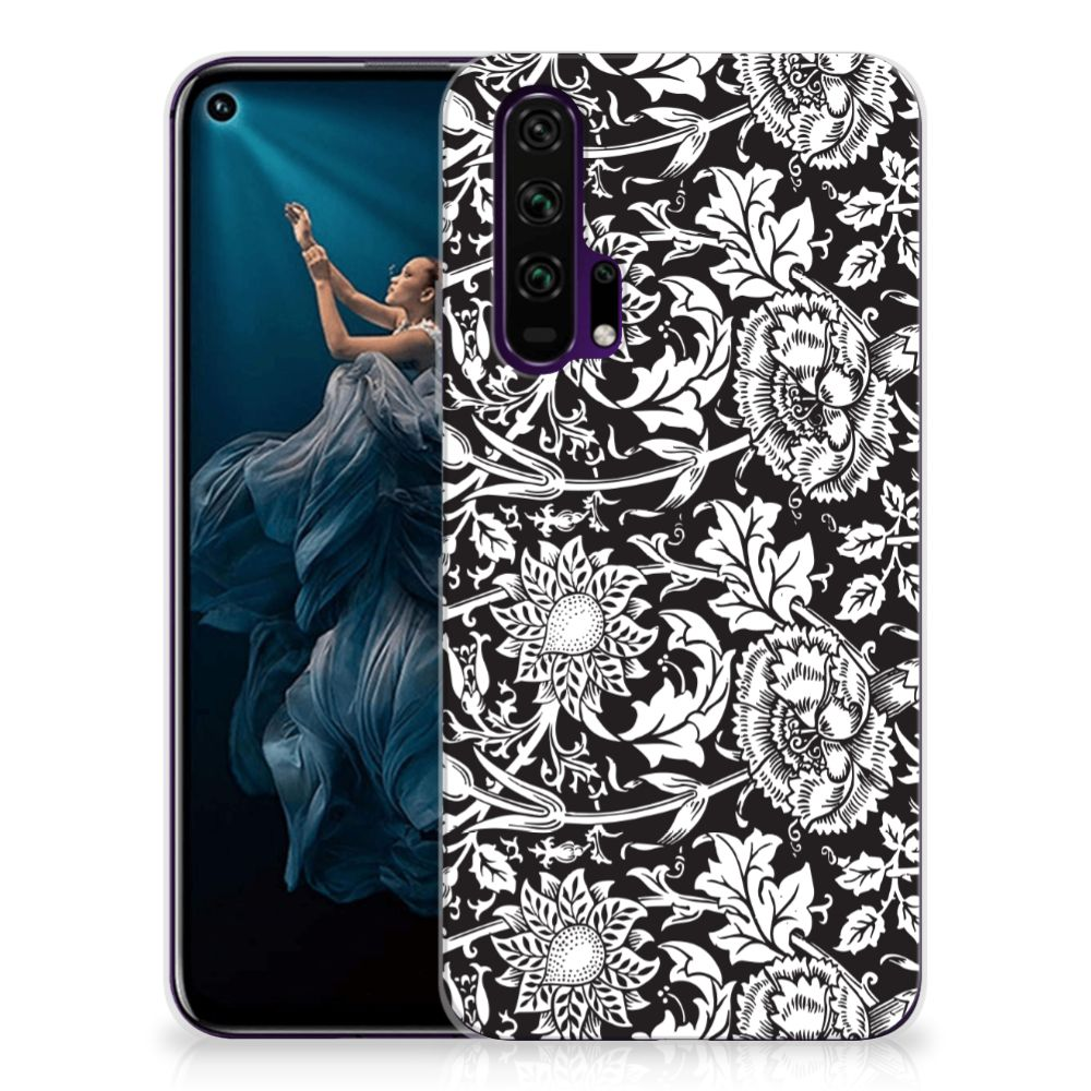 Honor 20 Pro TPU Case Black Flowers
