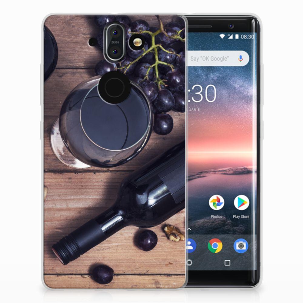 Nokia 9 | 8 Sirocco Siliconen Case Wijn