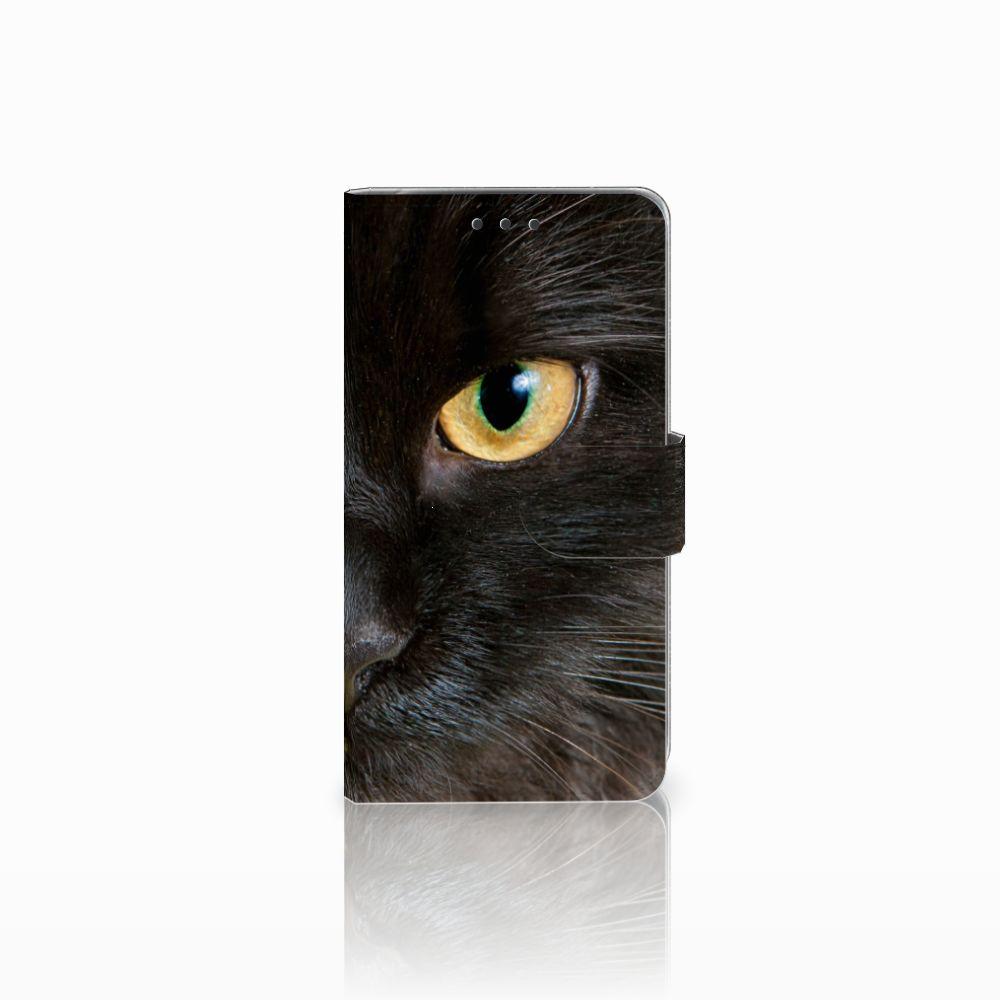 LG Q6 | LG Q6 Plus Uniek Boekhoesje Zwarte Kat