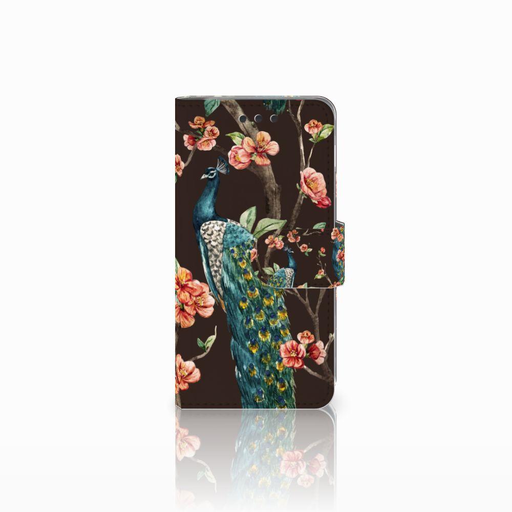Samsung Galaxy A3 2016 Boekhoesje Design Pauw met Bloemen