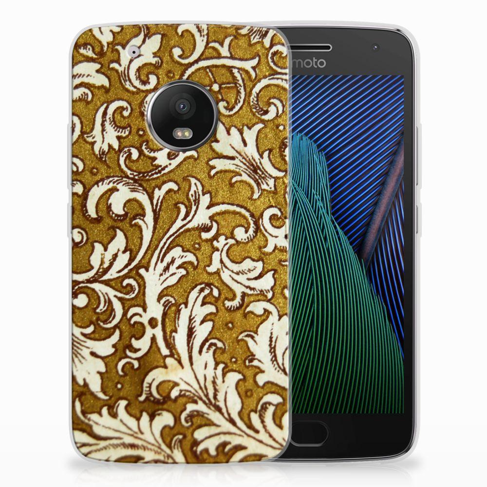 Siliconen Hoesje Motorola Moto G5 Plus Barok Goud