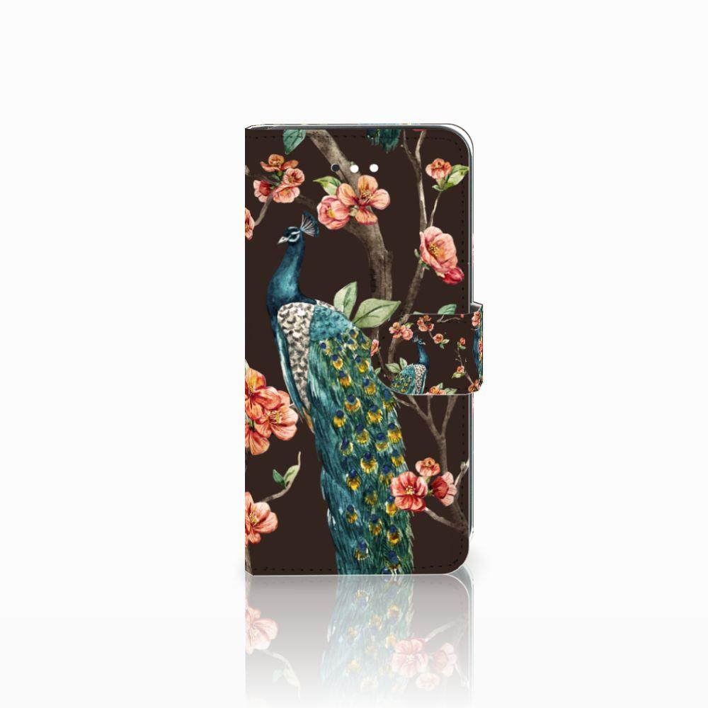 LG K11 Boekhoesje Design Pauw met Bloemen