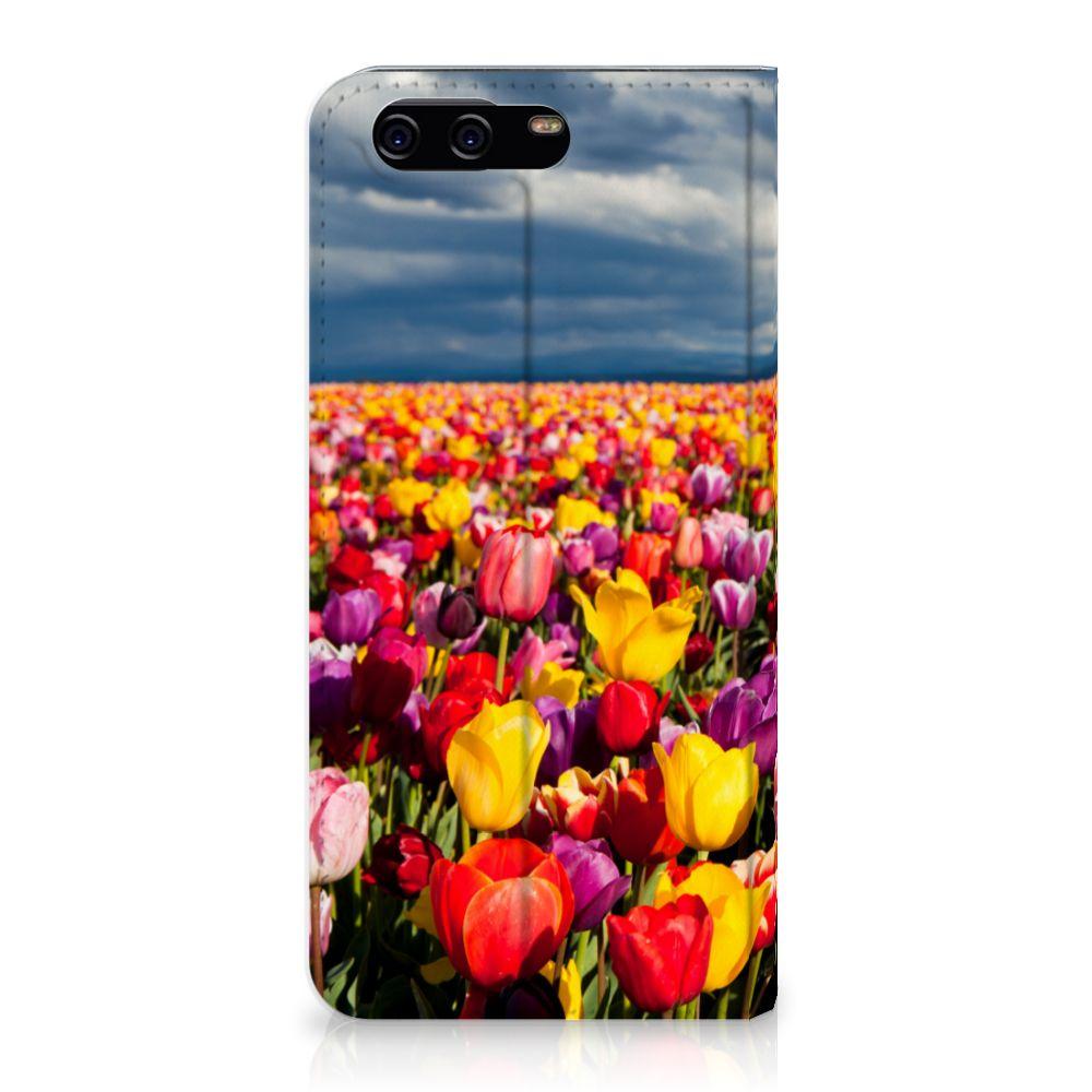 Huawei P10 Uniek Standcase Hoesje Tulpen