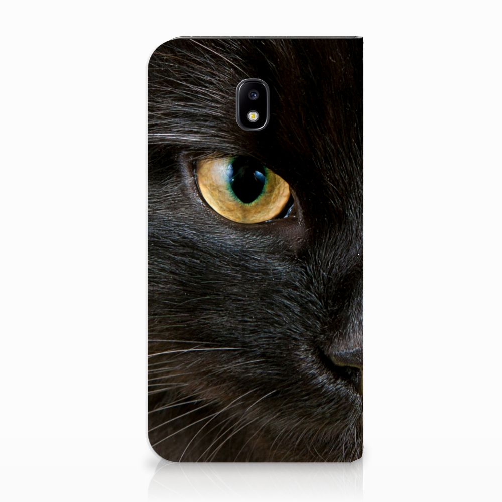 Samsung Galaxy J5 2017 Uniek Standcase Hoesje Zwarte Kat