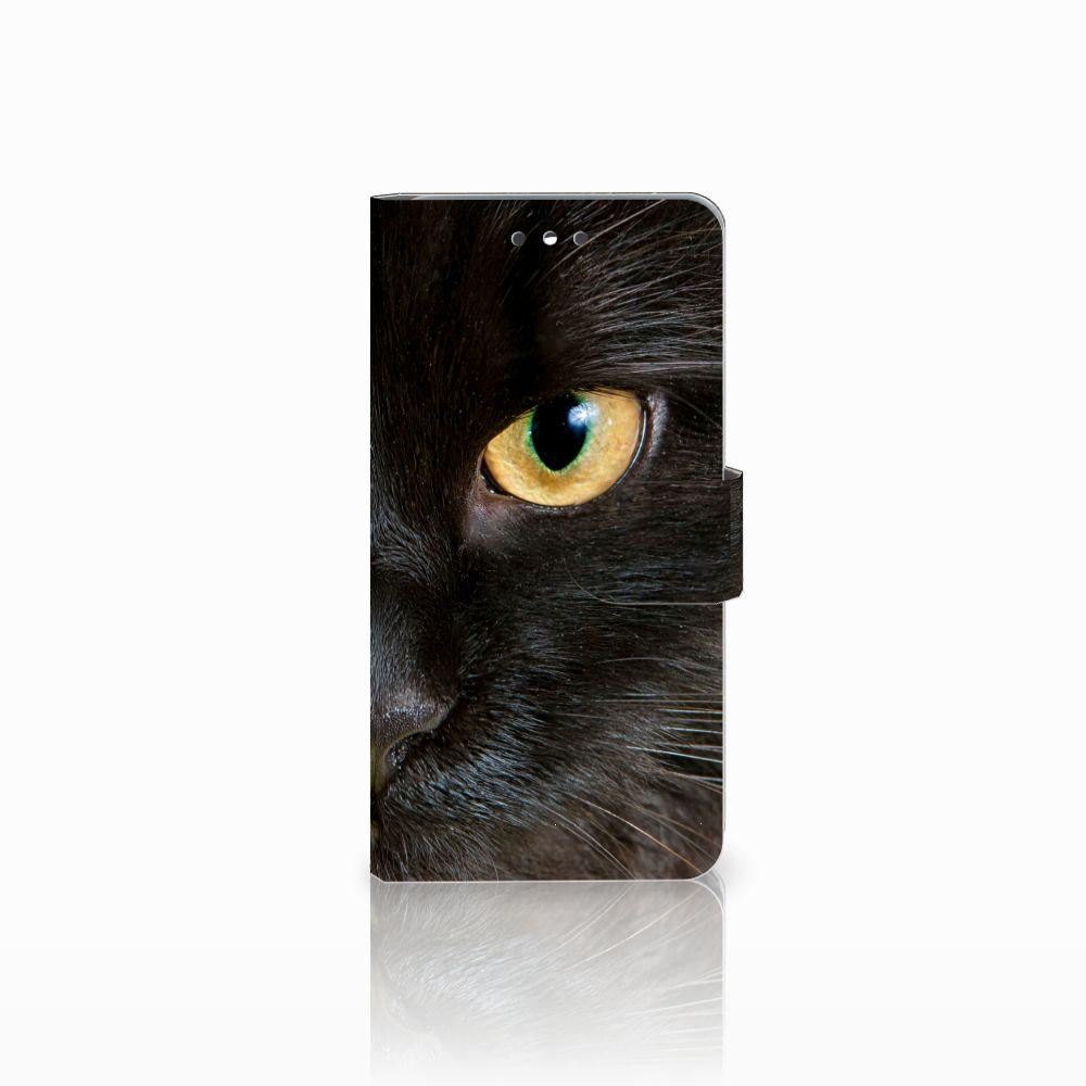 LG K4 (2017) Uniek Boekhoesje Zwarte Kat