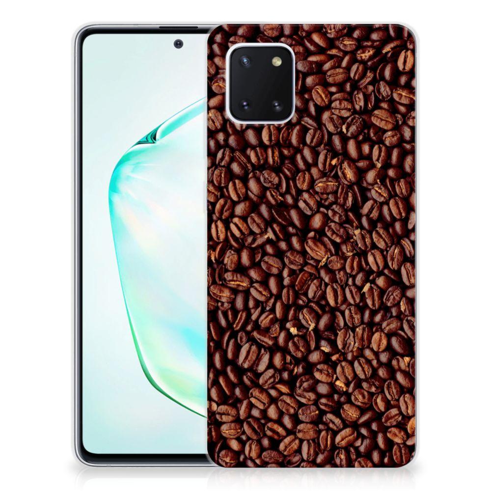 Samsung Galaxy Note 10 Lite Siliconen Case Koffiebonen