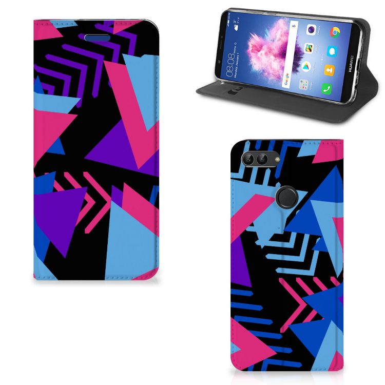 Huawei P Smart Stand Case Funky Triangle