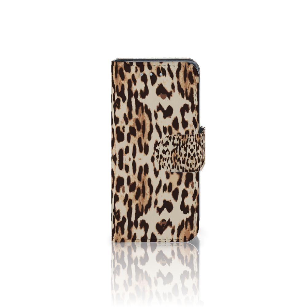 Samsung Galaxy S4 Mini i9190 Uniek Boekhoesje Leopard