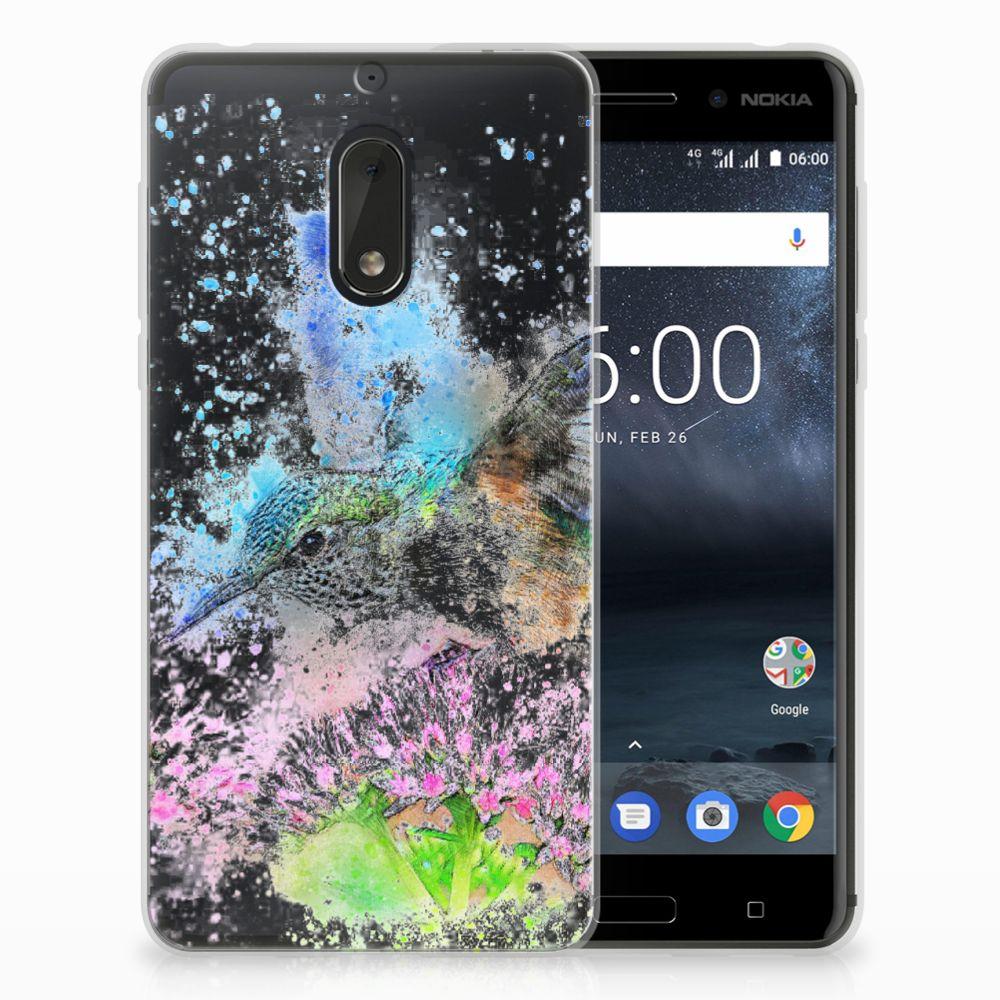 Nokia 6 TPU Hoesje Design Vogel
